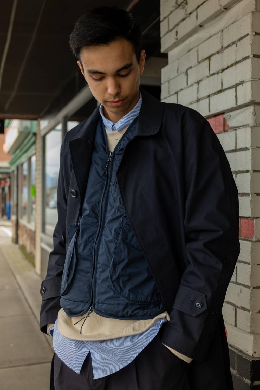nanamica soutien collar coat