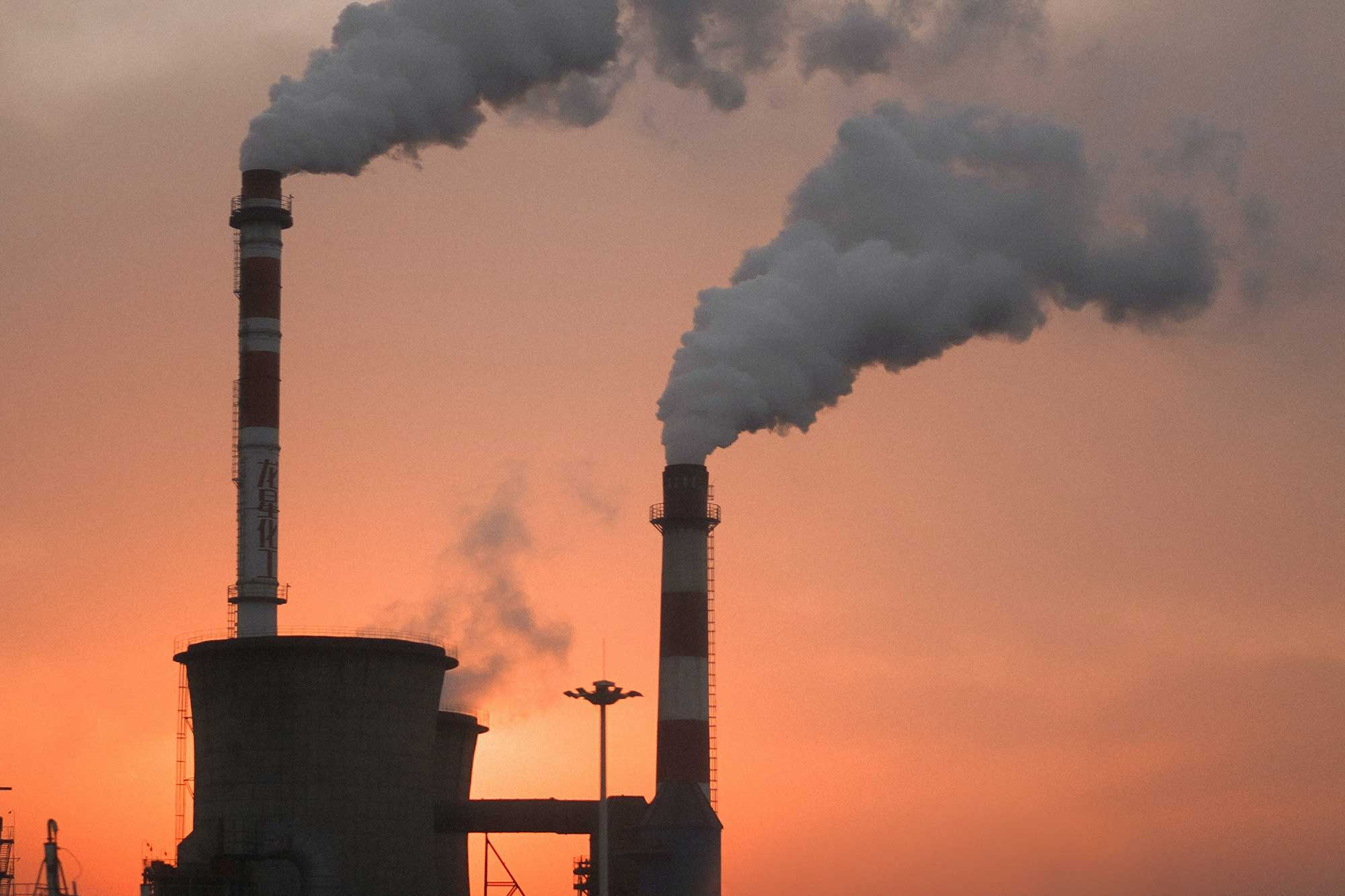 Greenhouse gases from factory