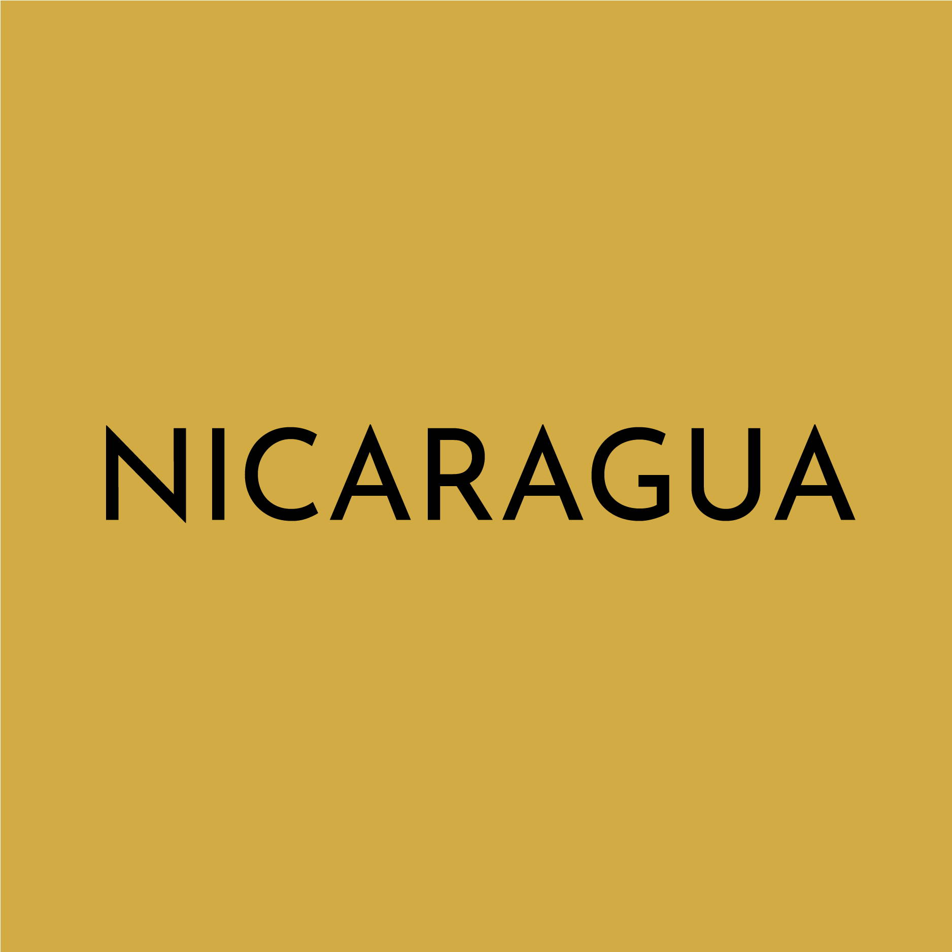 "A solid yellow block contains the text ""NICARAGUA"""