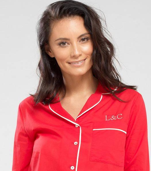 a woman wearing pyjama set