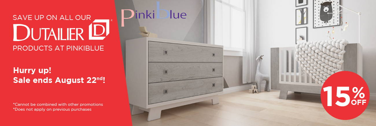 Dutailier 15% off at PinkiBlue