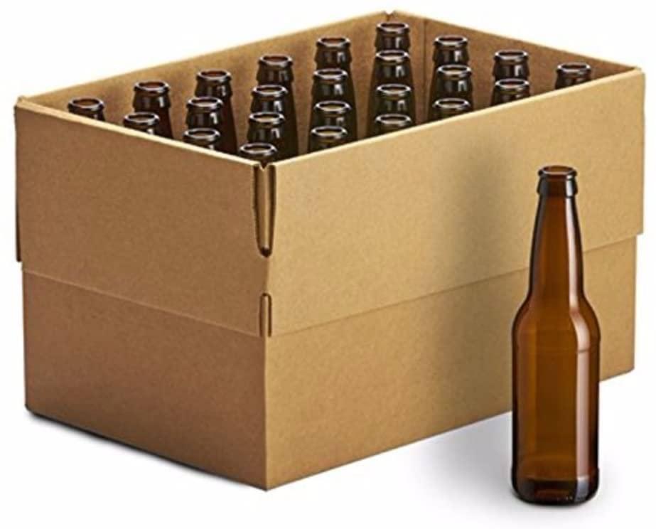 24 PACK 12 oz Amber Longneck Empty Beer Bottles - Homebrew Supply