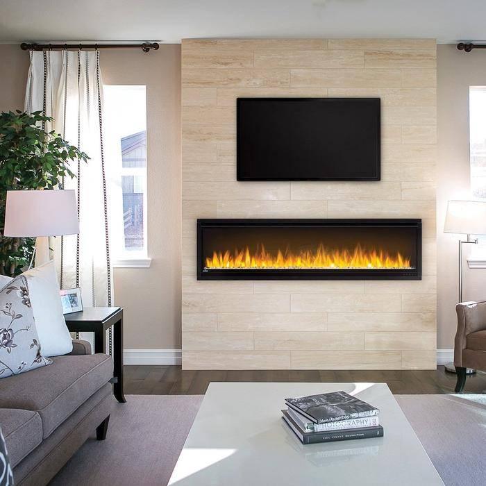 Napoleon Alluravision 60 Slimline Electric Fireplace in Living Room