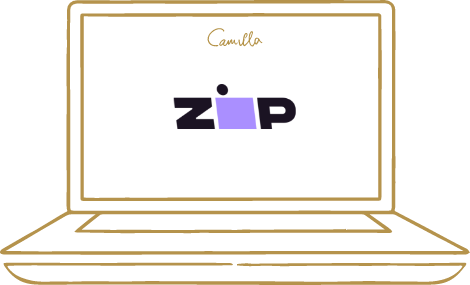 camilla laptop with zip icon