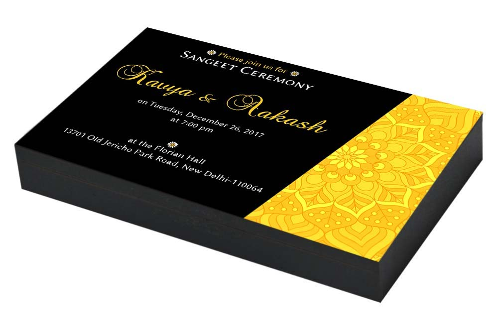 Designer Sangeet ceremony Invitation