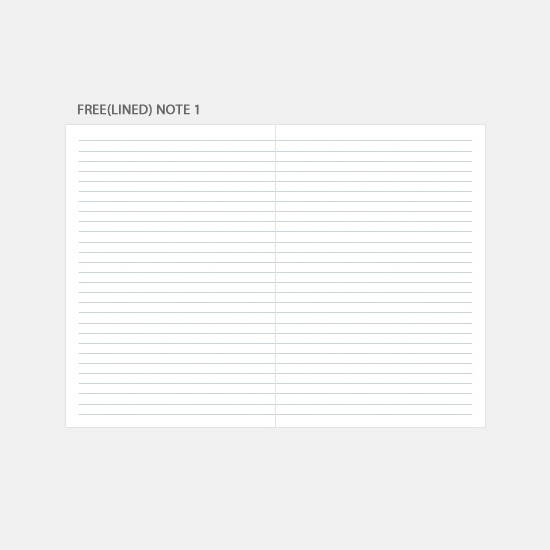 Free(lined) note - 3AL 2020 Brighten day dated weekly diary planner