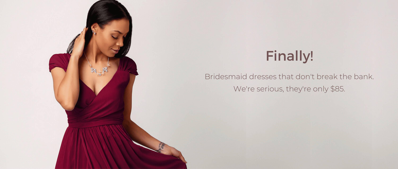 bridesmaid dress rentals Canada