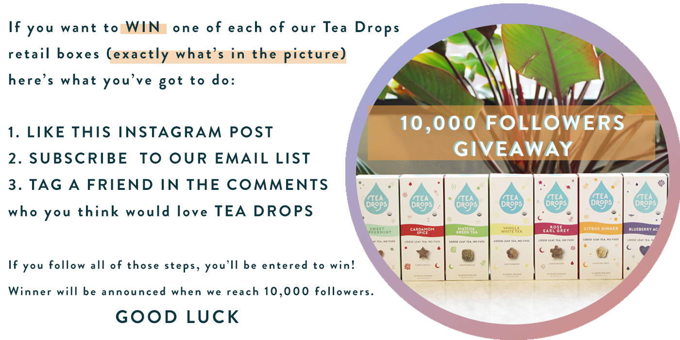 as we give thanks we want to thank you tea drops