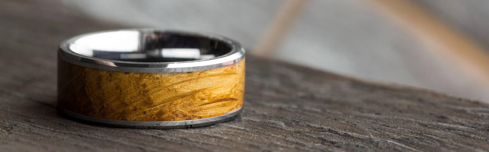 Wood Tungsten Wedding Band