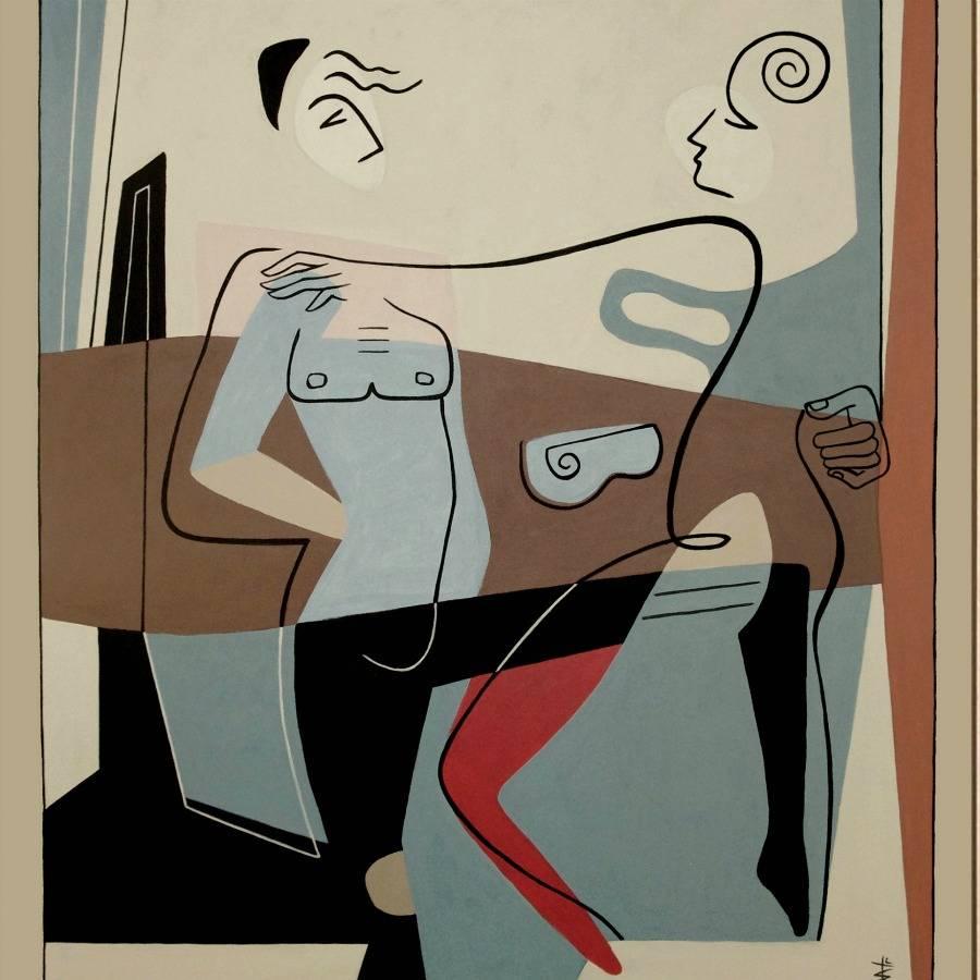 Geometric figurative abstraction byBernard Simunovic
