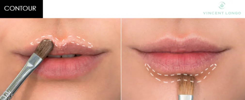 Contour instructions for lips
