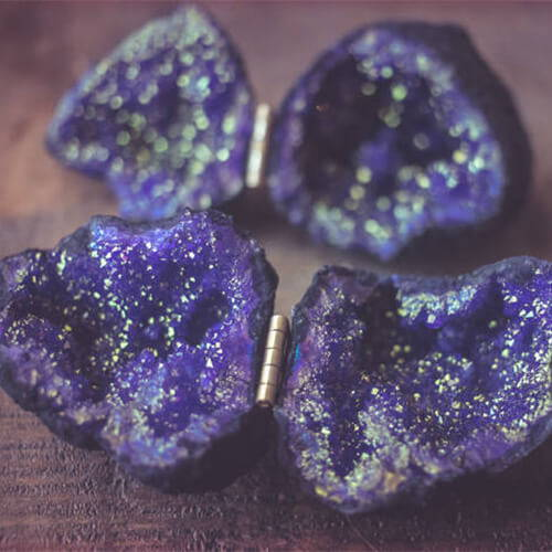 Purple Geode Ring Box