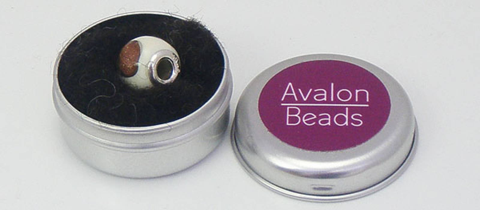 "Runde Dose ""Avalon Beads"""