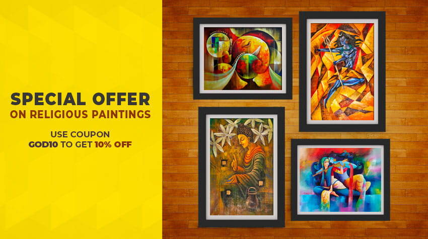 Radha Krishna, Ganesha Paintings