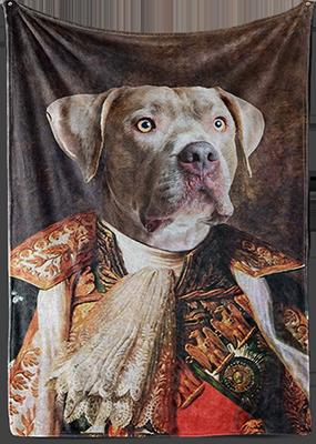 renaissance dog art on blanket