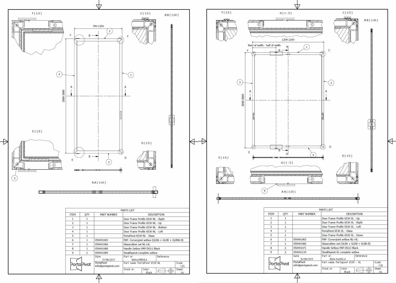 Portapivot 6530 DWG and DXF files