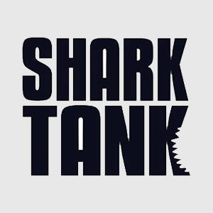 Shark tank logo black and white
