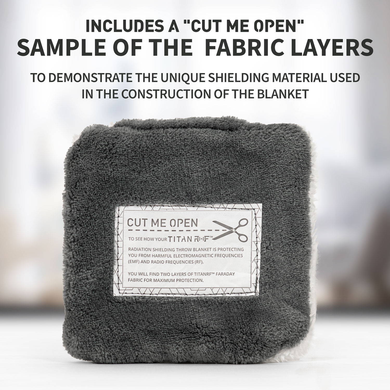 Anti Radiation Clear Fabric EMF Shielding Cloth RFID Blocking Lining For Curtain