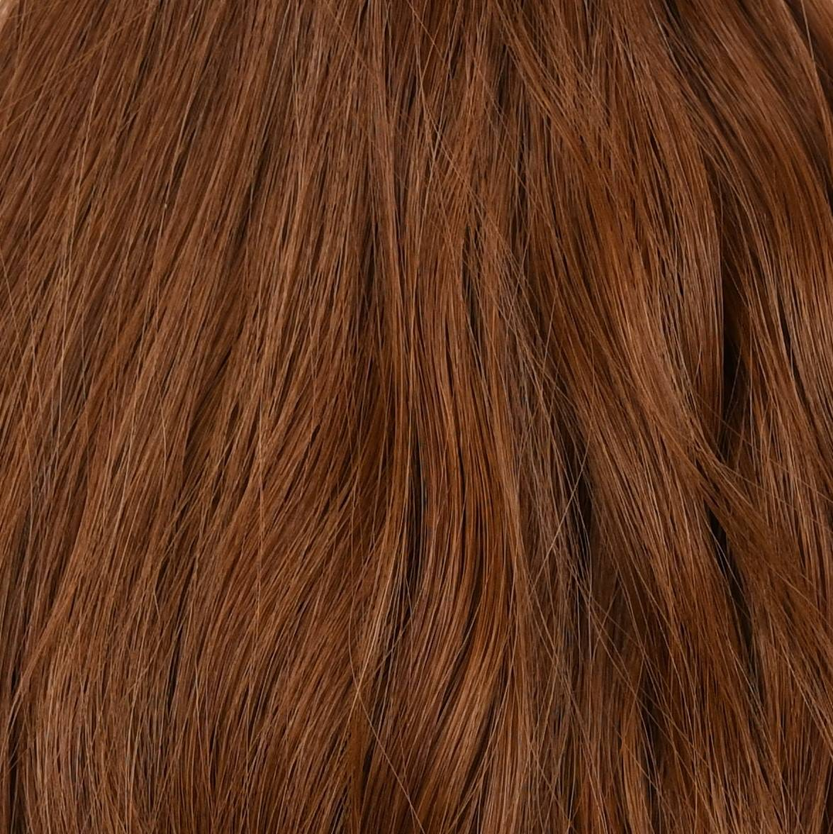 blend of red hair extensions color sample in hair color chart