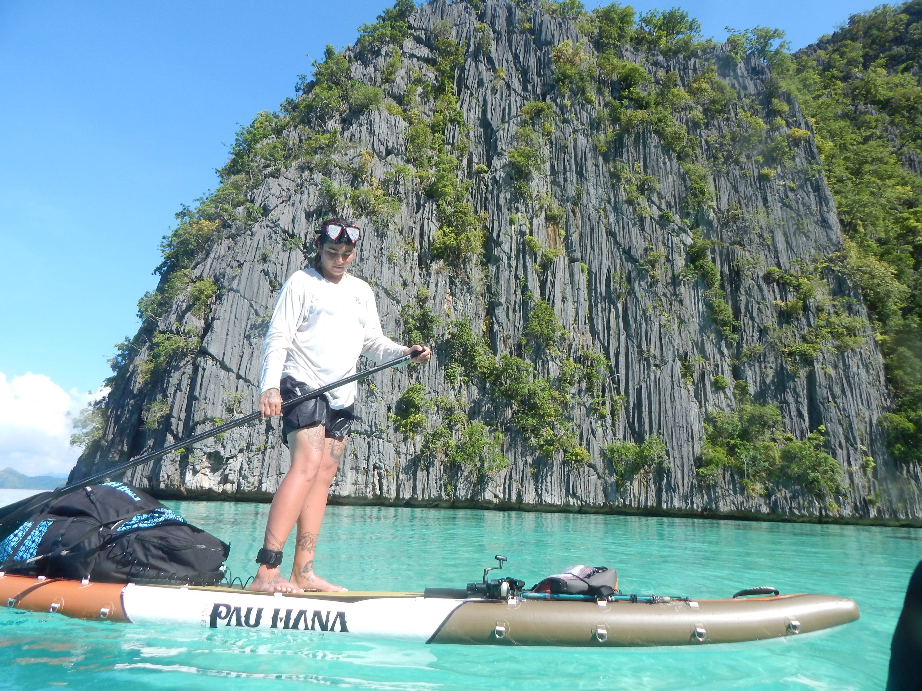 Stand up paddle board in the Philippines
