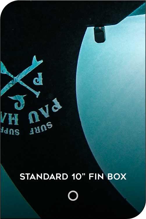 PAU HANA BIG EZ HAWAIIAN PADDLE BOARD STANDARD FIN BOX FEATURE
