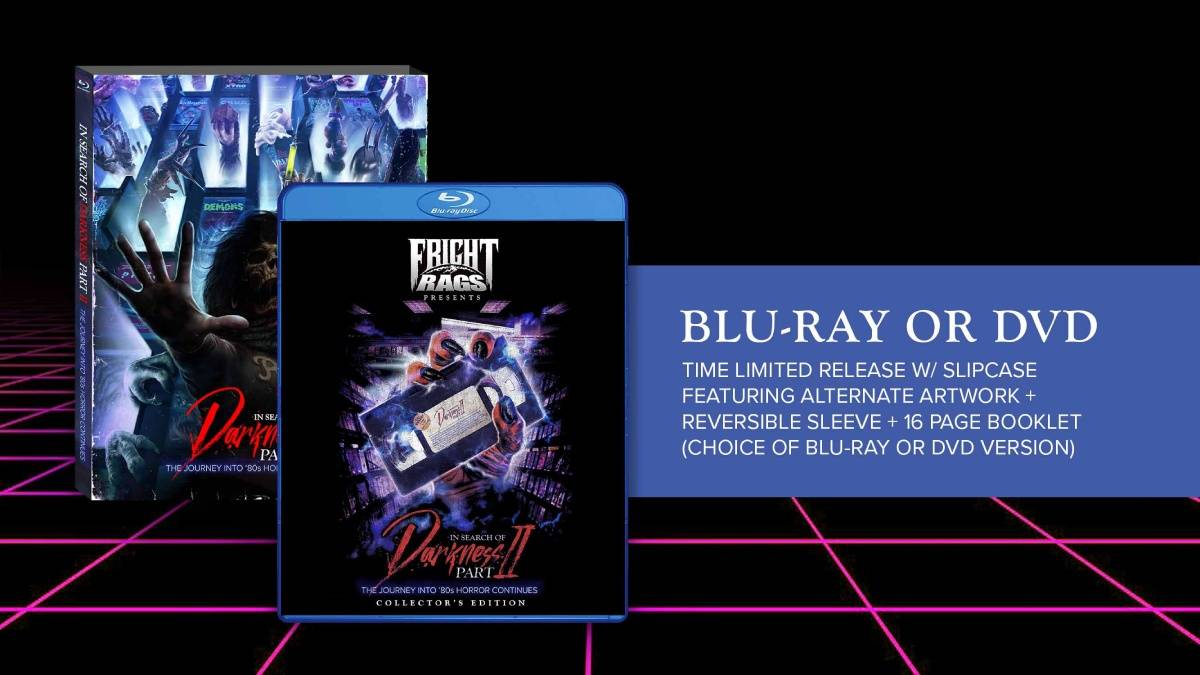 In Search of Darkness: Part II, Fright-Rags Collector's Edition blu-ray/dvd package