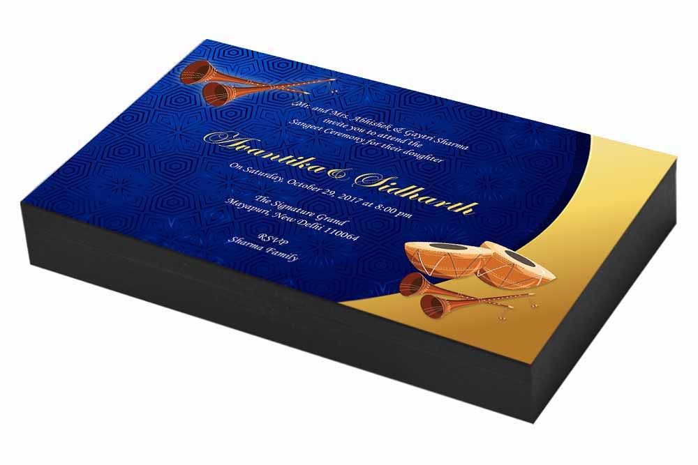 Traditional Sangeet ceremony Invitation