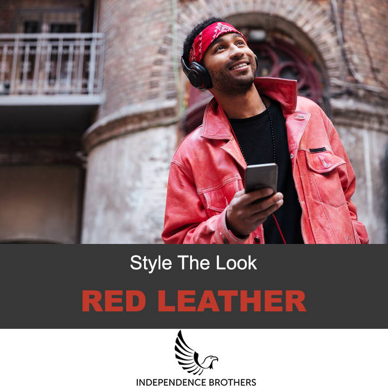 How to wear red leather jacket