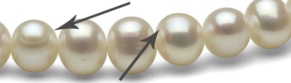 Freshwater Blemishes Ridges on Pearls