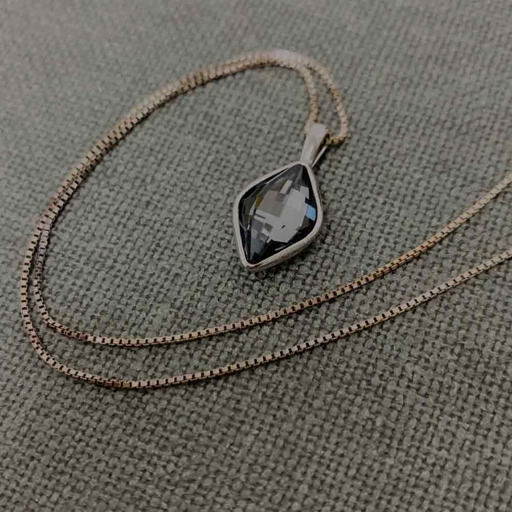 Women's silver crystal necklace