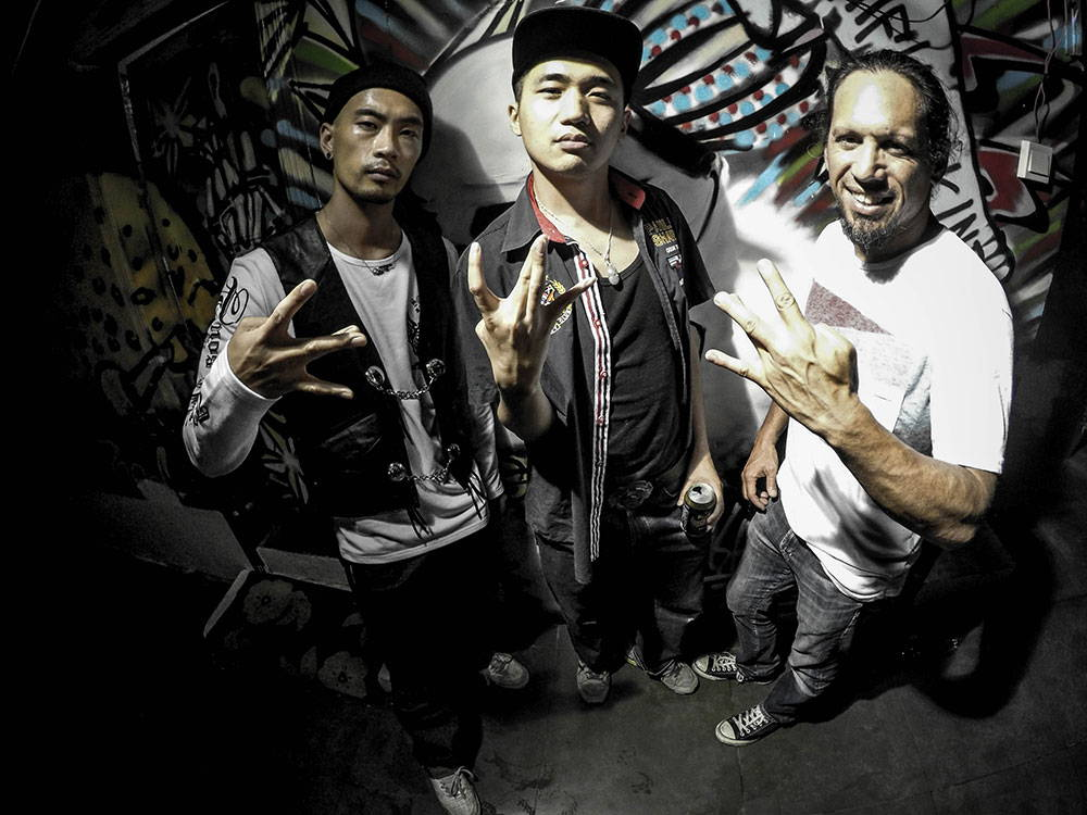 Hanging out with chinese rappers