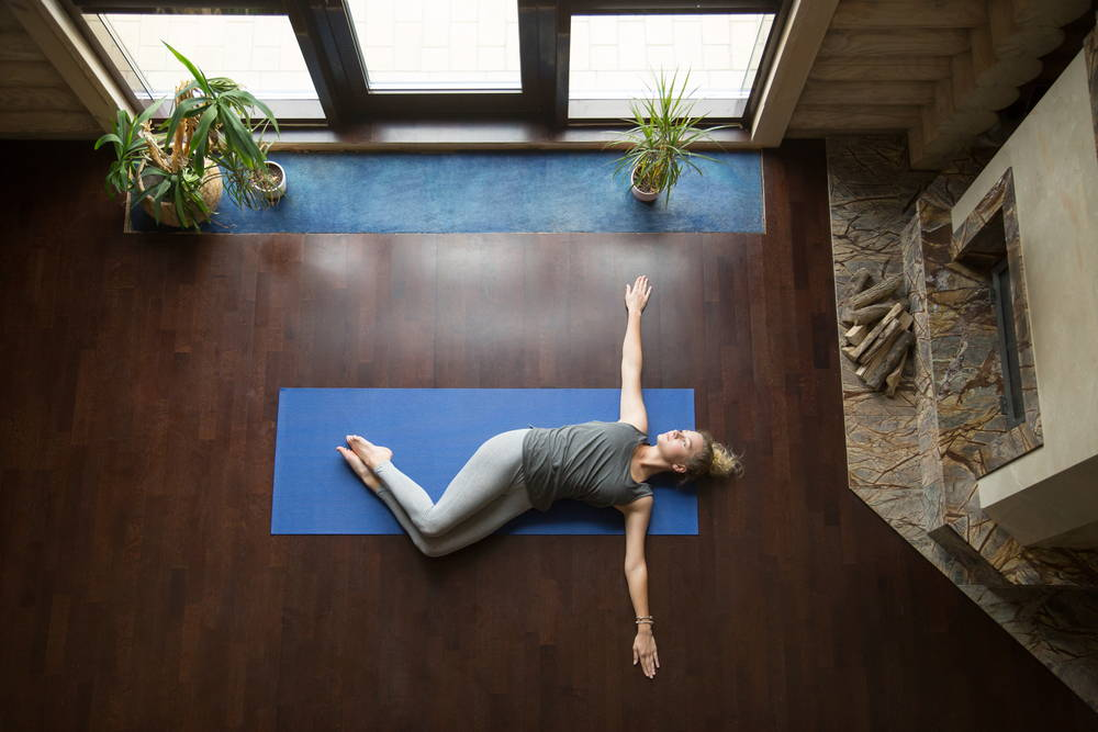 reclined twist pose