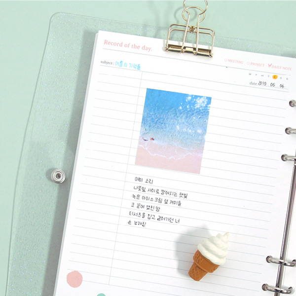 Lined note - Second Mansion Moment A5 6ring dateless weekly diary planner