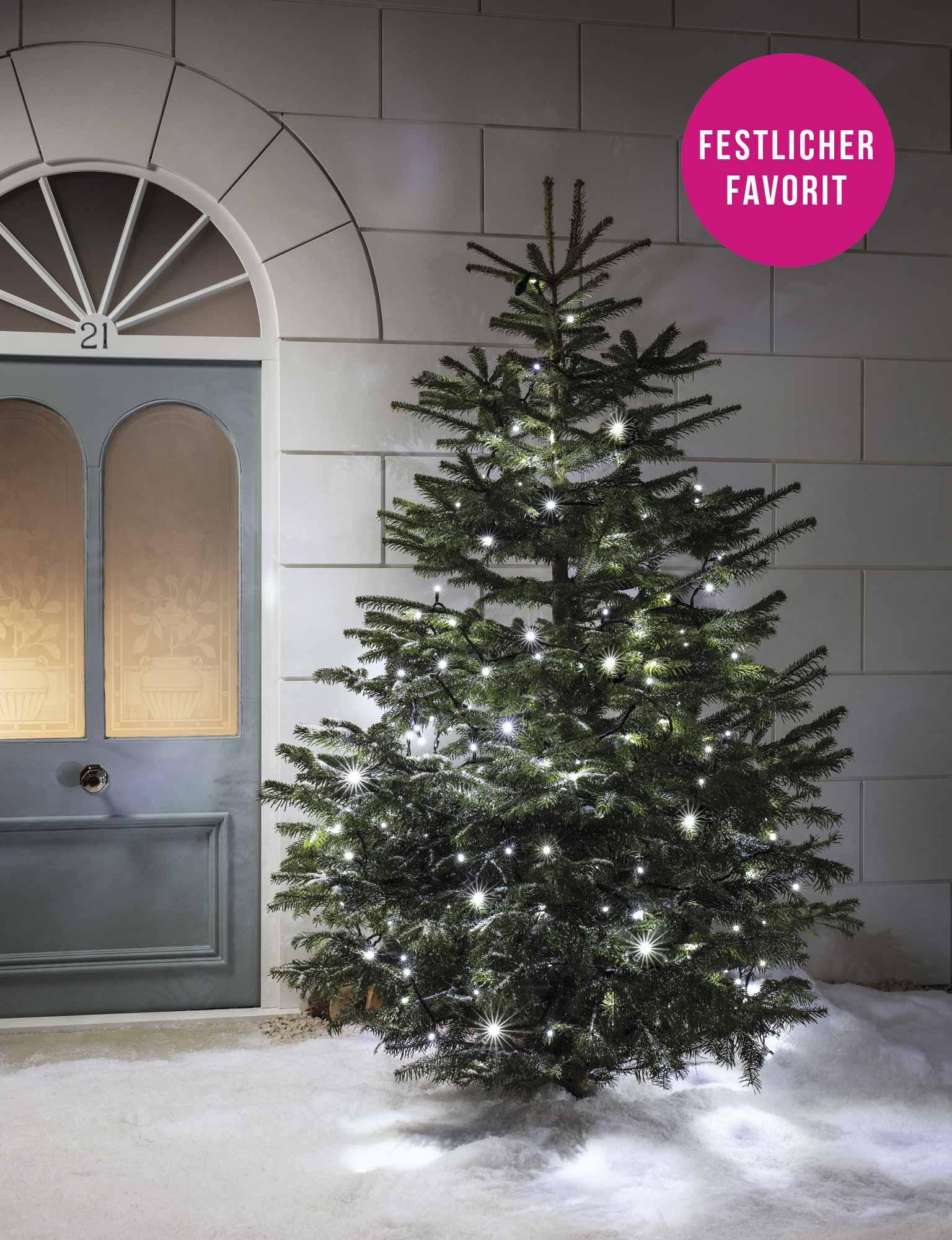 Lichterkette Weihnachtsbaum Außen.Wie Viele Lichter Für Meinen Weihnachtsbaum Lights4fun De