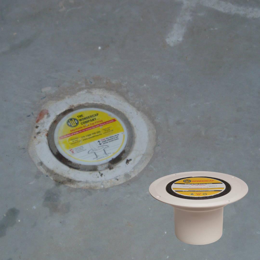 wondercap kit installed in a shower drain australia