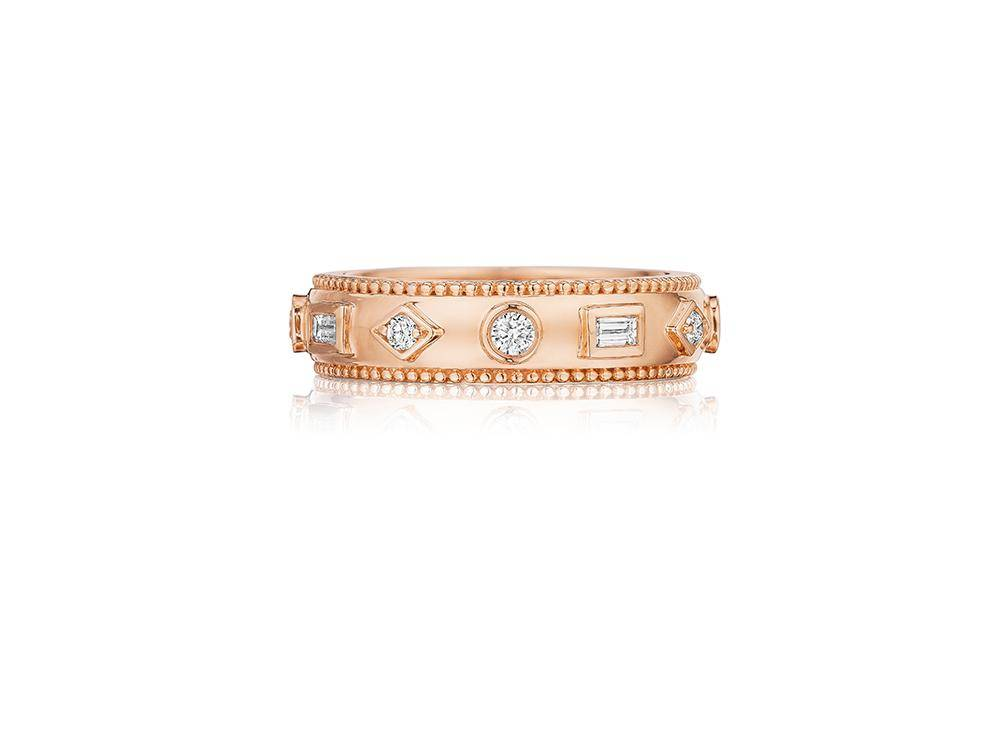 Rose Gold and Diamond Eternity Band