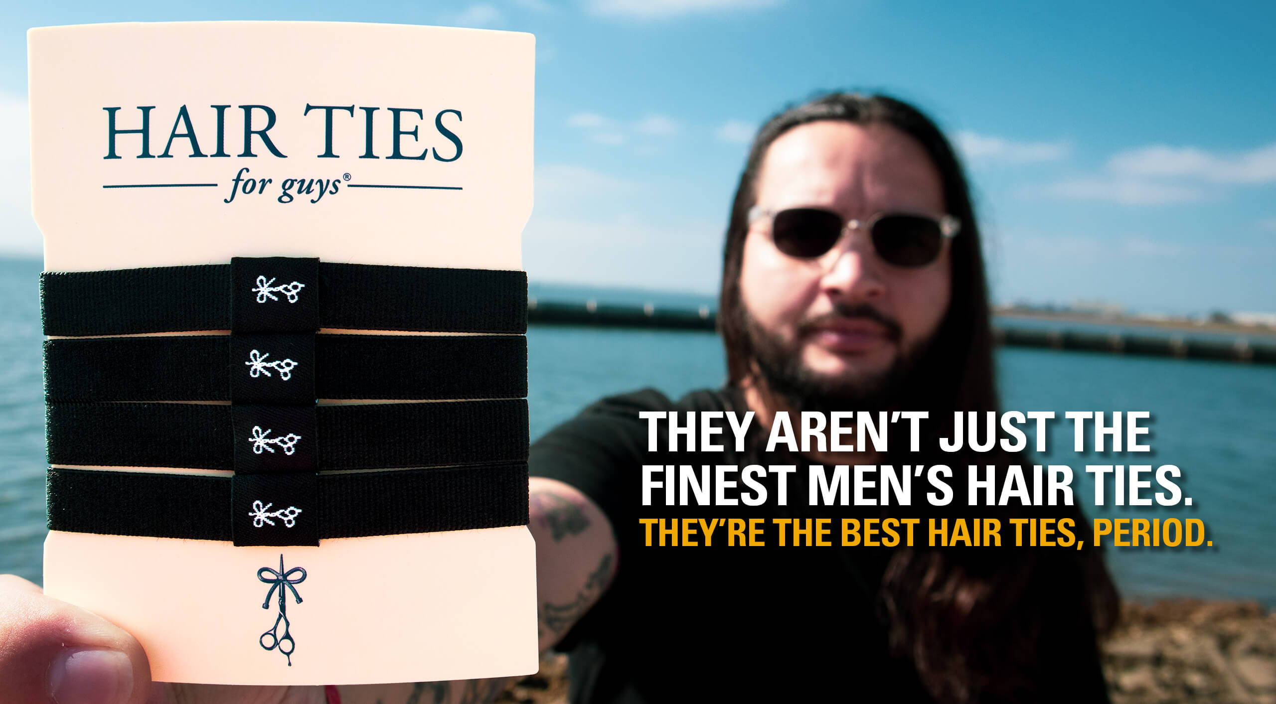 Hair Ties For Guys - The Black Ties