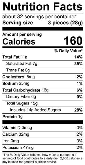 Vanilla Orange Cream Truffle Nutrition Facts