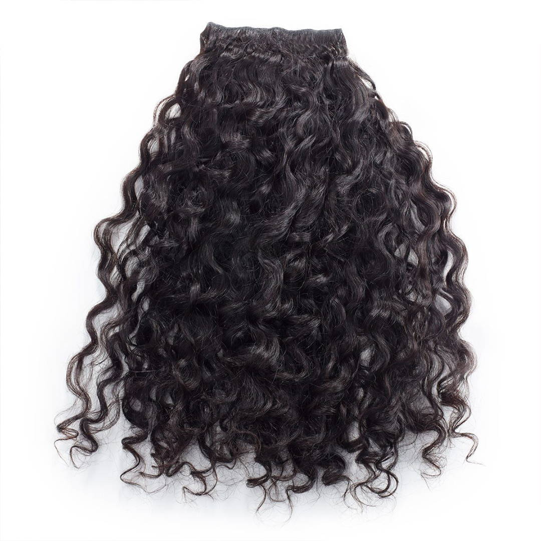 Hand tied rows curly hair