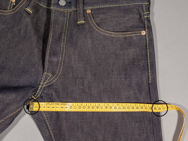 how to measure a jeans thigh