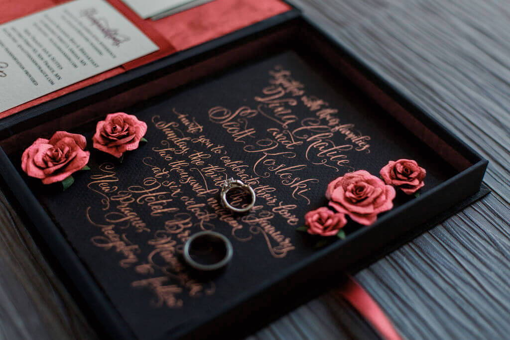 Coral Wedding Invitation