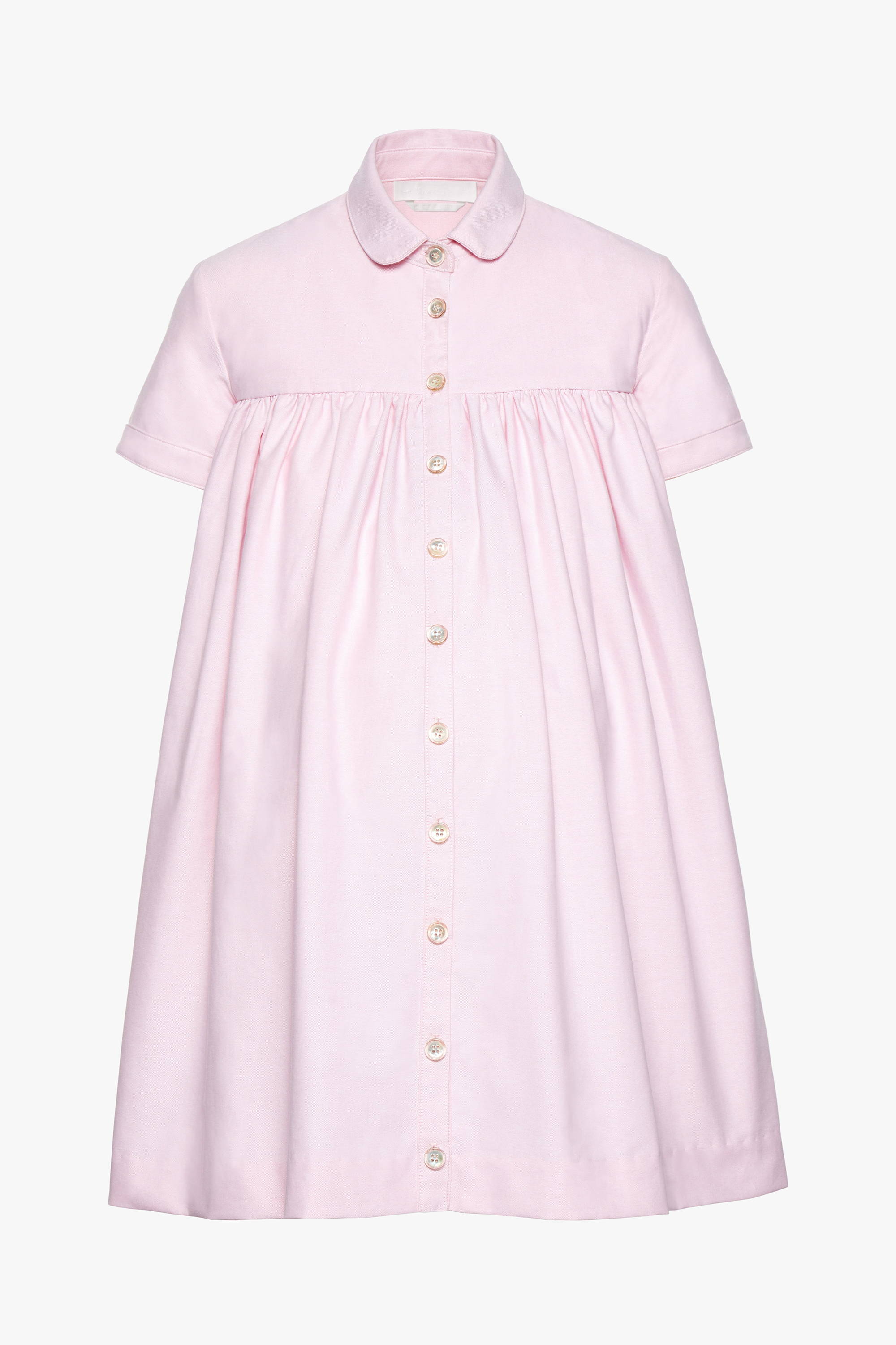 The maternity friendly Melrose dress in pink poplin