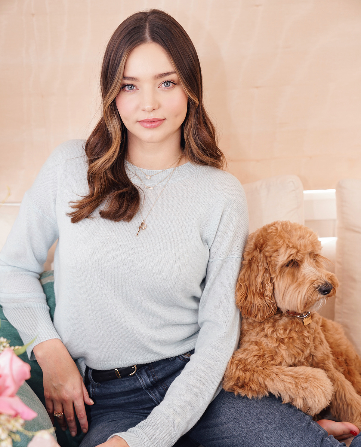 Miranda Kerr with her dog Teddy