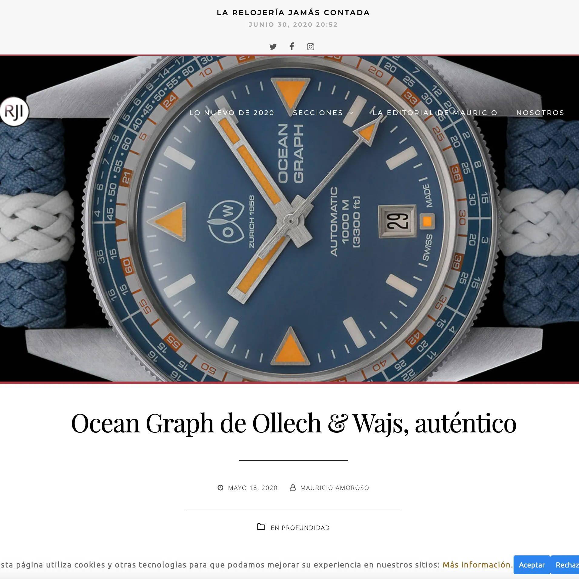 Relojes increibiles ollech and wajs ocean grap
