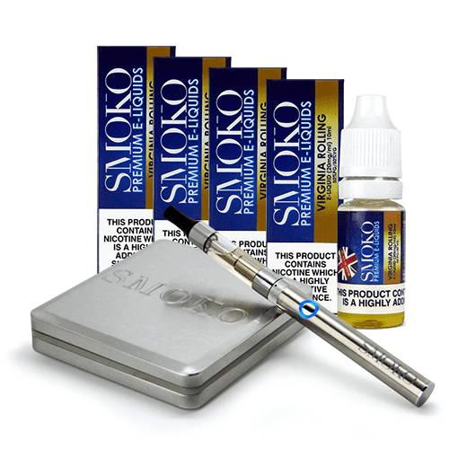 V-Style Cometa de inicio de cigarrillos electrónicos recargables con botellas 4 de líquidos electrónicos
