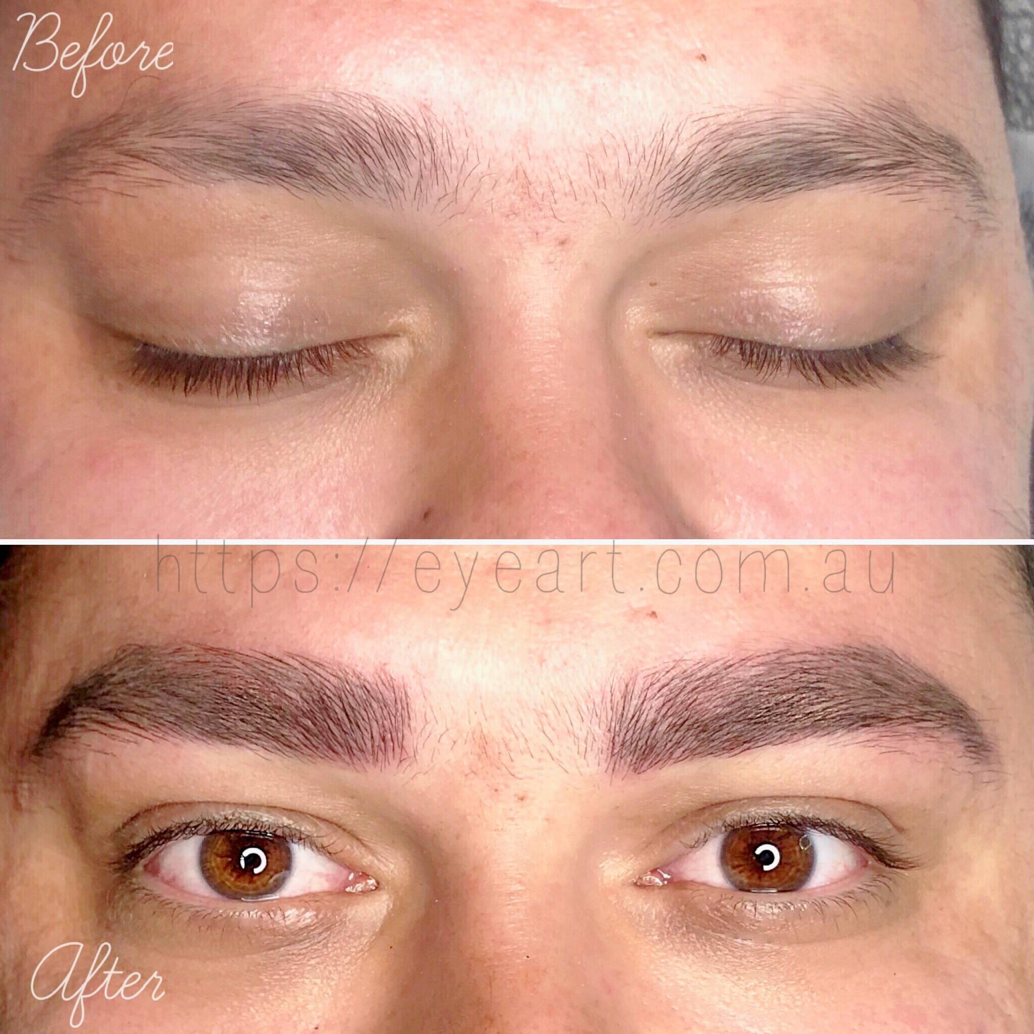 Men's Eyebrow Microblading
