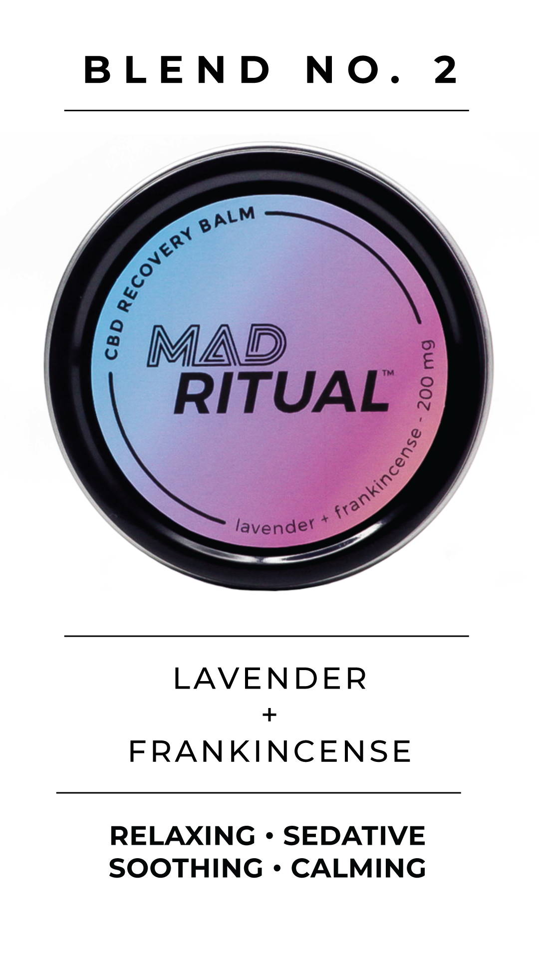 Lavender muscle recovery balm with cbd