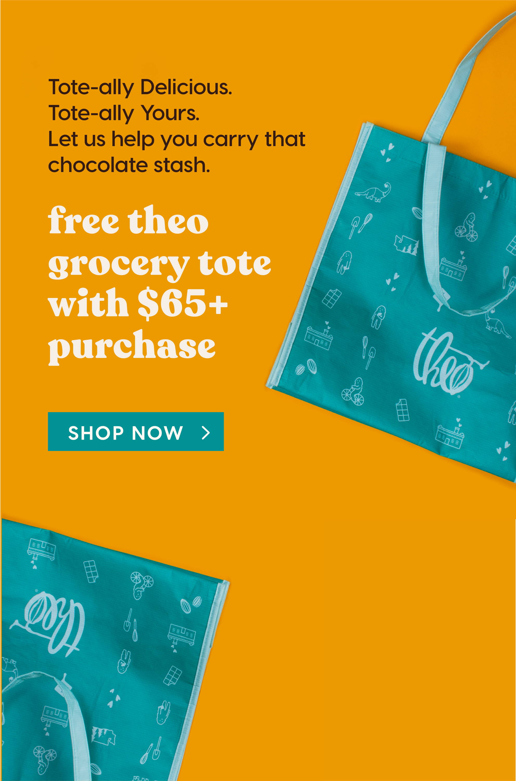 Free Theo Grocery Tote on $65+