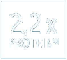 2,2 mal mehr Protein