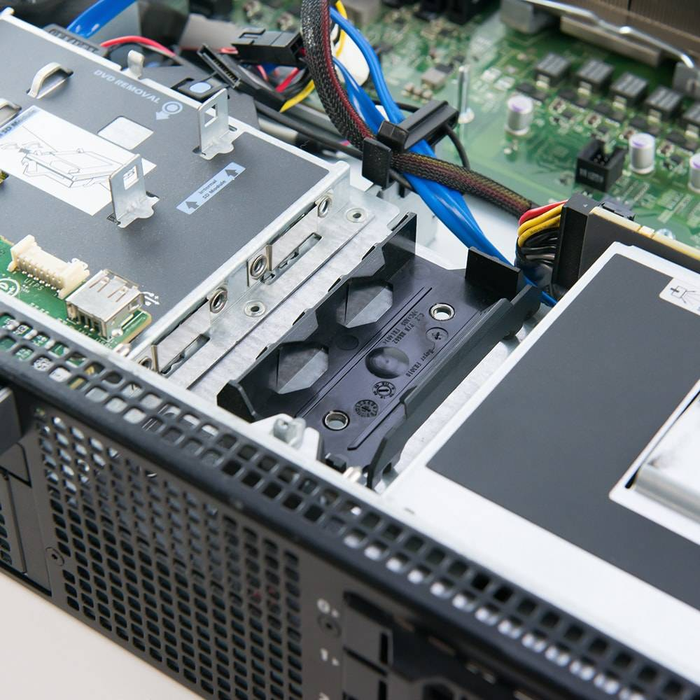 Dell PowerEdge R710 chassis interior